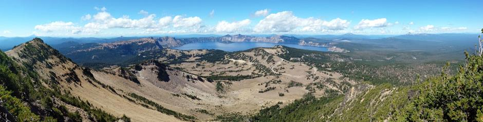 Mt. Scott looking west Crater Lake