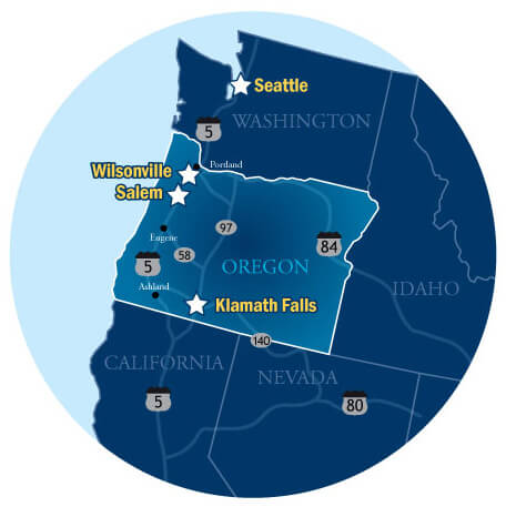 U Of Oregon Map.Campuses And Academic Degree Programs
