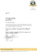 Multnomah University Letter