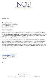 Northwest Christian University Letter