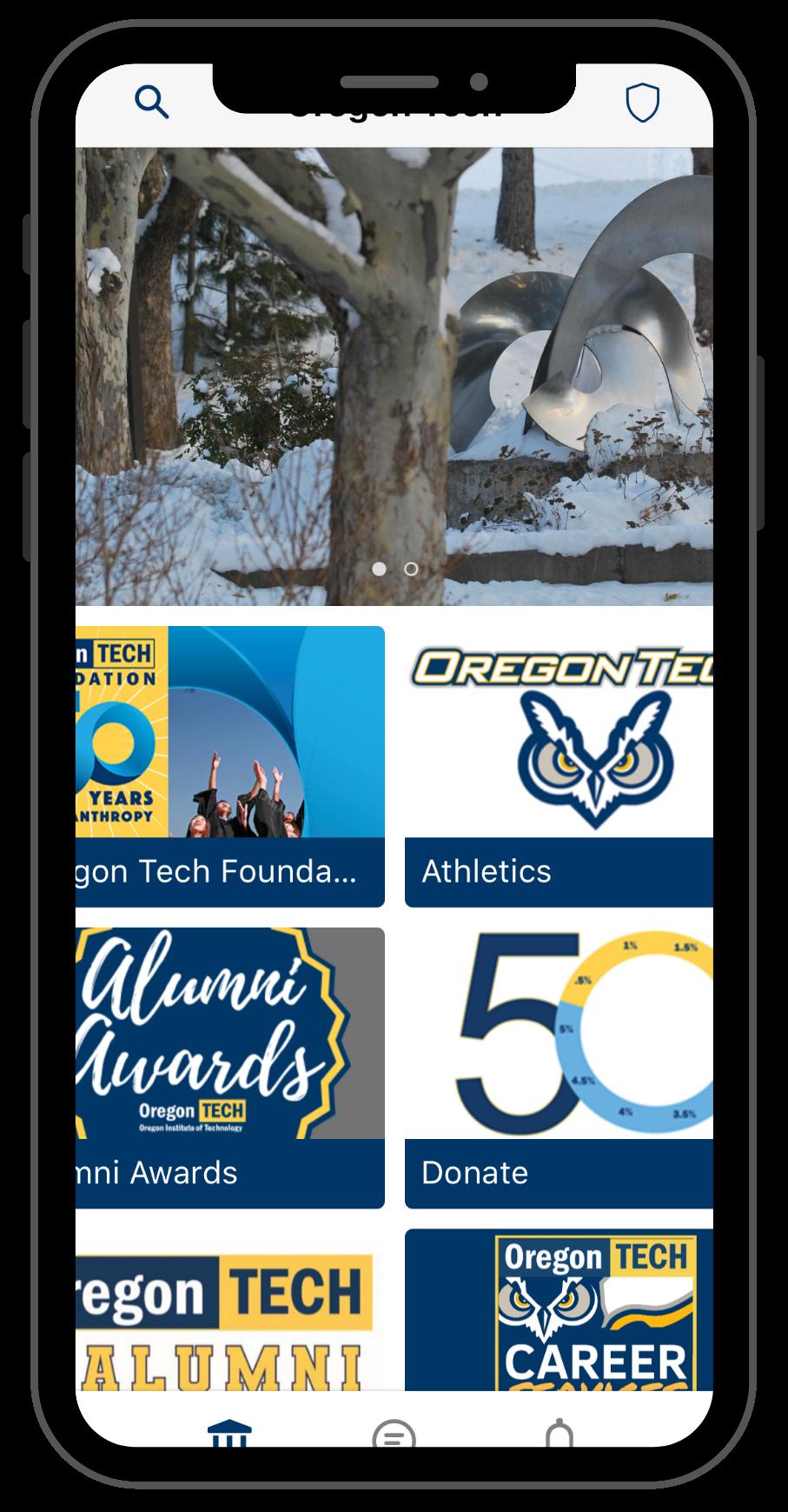 App Screen shots- alumni