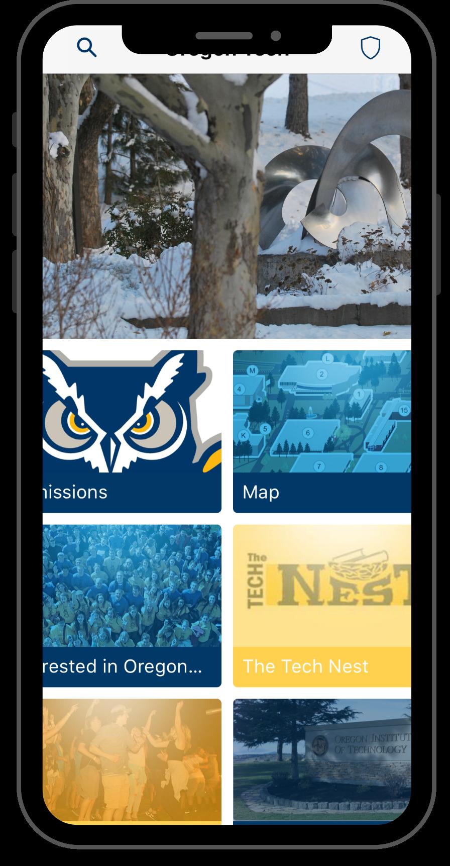 App Screen shots- visitor