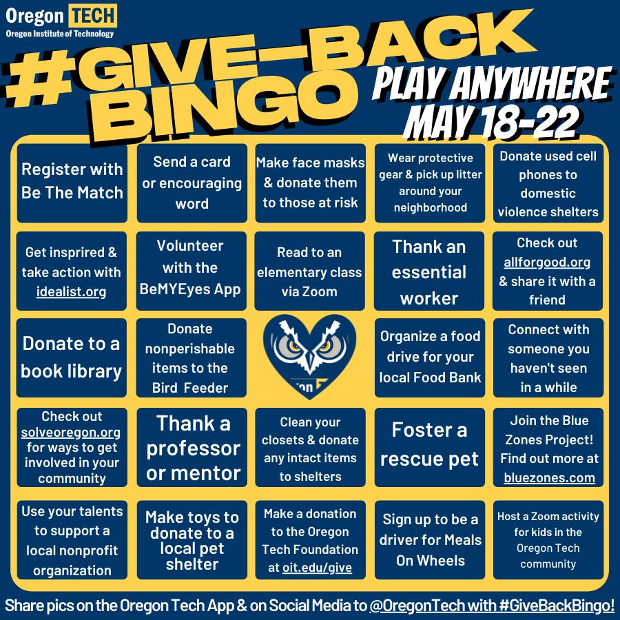 Give Back Bingo App Post