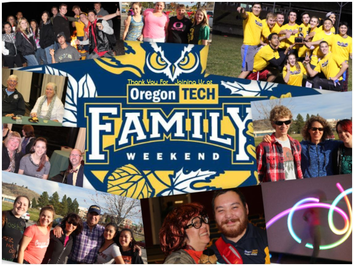 family weekend thank you collage