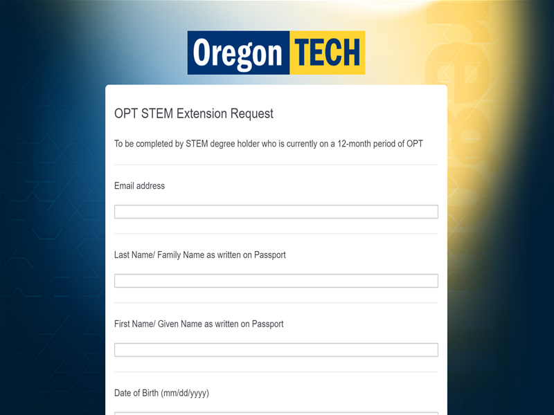 OPT STEM Extension Request