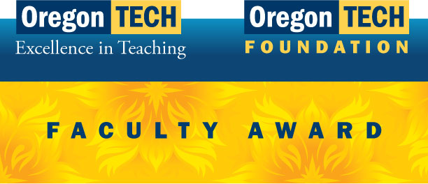 2017-18 Oregon Tech Foundation Excellence in Teaching Award