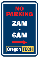 (2019-2020) Winter Safety No Parking Sign