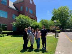achieve the dream team June 10th 2019 in front of the Western Oregon State University Library