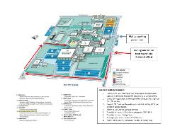 campus map with directions to the LRC