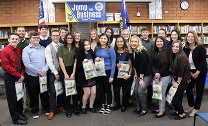 Mazama High School FBLA and business students accepted into Oregon Tech's Jump into Business Diploma to Degree program.