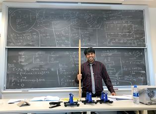 Dr. Eklas at his classroom in the department of Electric Engineering & Renewable Energy, Oregon Tech