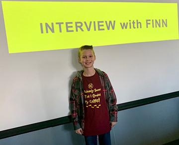 Finn presenting to OHSU