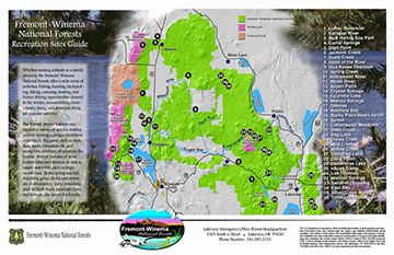 Fremont-Winema National Forest Map