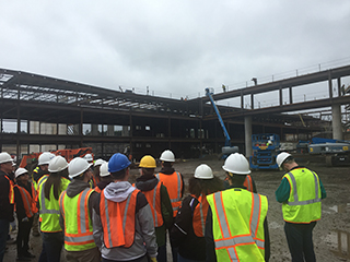 Students tour 75-acre Sherwood High School construction