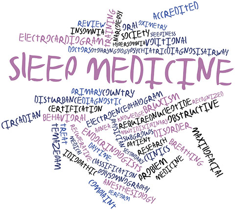 Abstract word cloud for Sleep medicine with related tags and terms