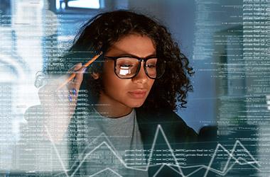 Woman Studying Data