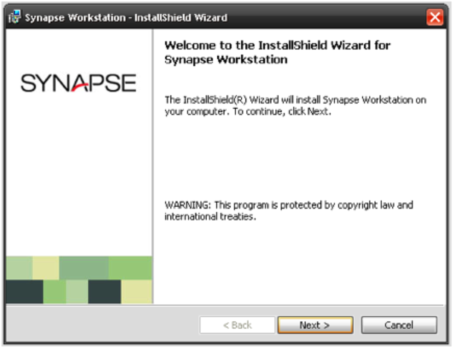 Synapse Software Install