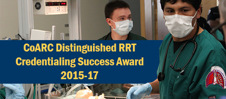 Oregon Tech's Respiratory Care Program Recieved the Distinguished RRT Credentialing Success Award in 2016