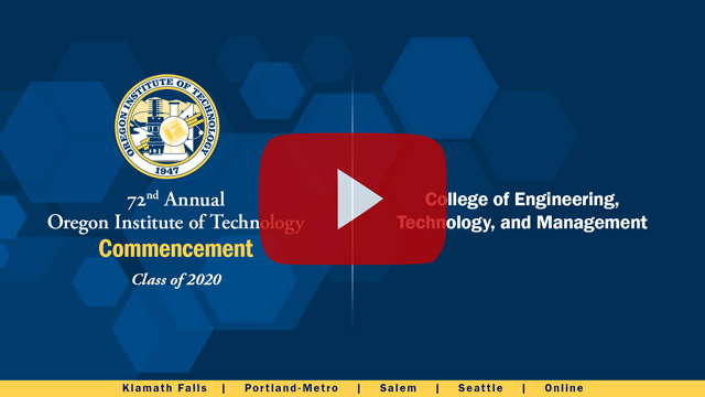 College of Engineering, Technology, and Management Commencement