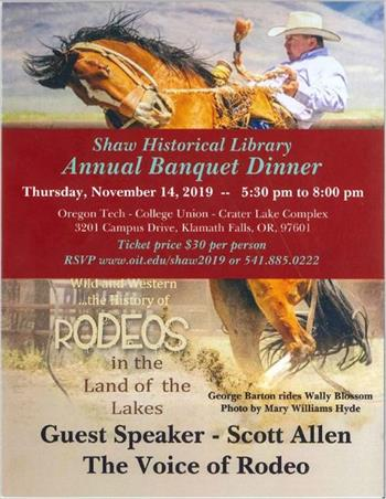 Shaw Historical Library Banquet 2019 poster