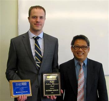 Student Achievement Award: Matthew Schacht